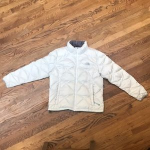 North Face White Puffer Jacket